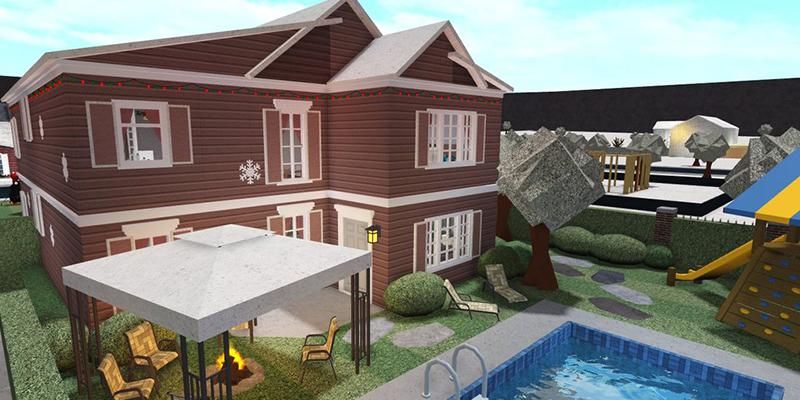 Roblox Bloxburg Aesthetic Family Mansion