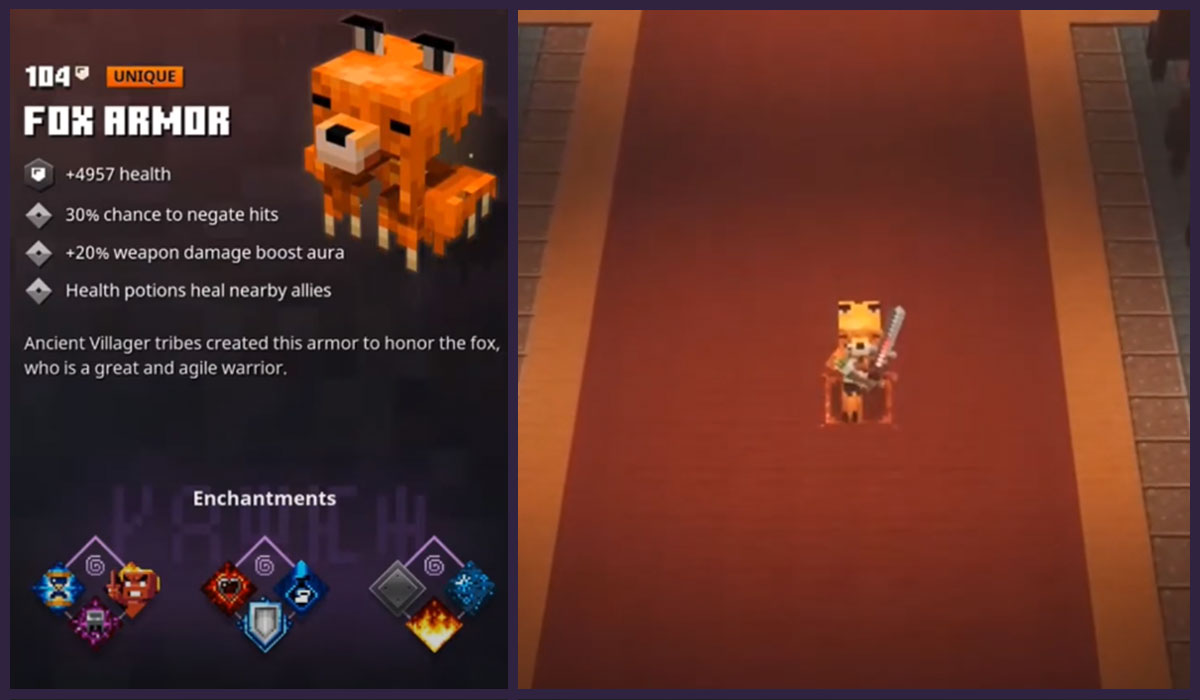How To Get Fox Armor In Minecraft Dungeons