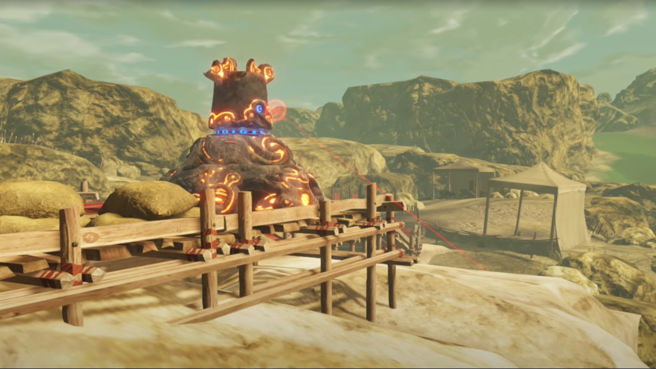 How To Beat The Guardian In Road To The Ancient Lab In Hyrule Warriors Age Of Calamity