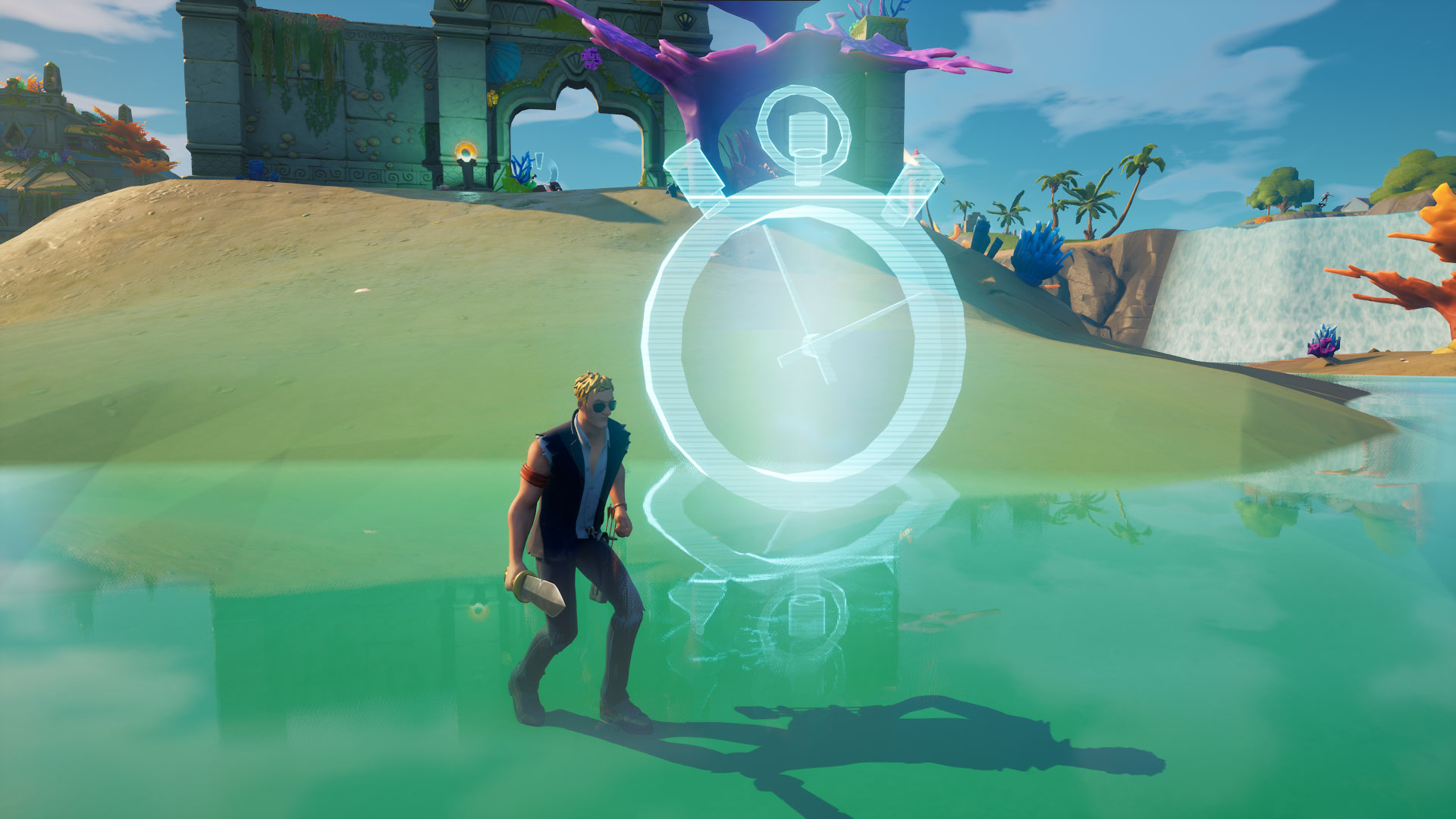 Where Are The Time Trials Located In Fortnite Season 5 Where To Complete The Swimming Time Trial At Weeping Woods Or Coral Castle